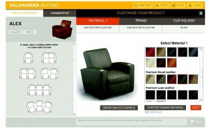 Salamander custom seating configurator