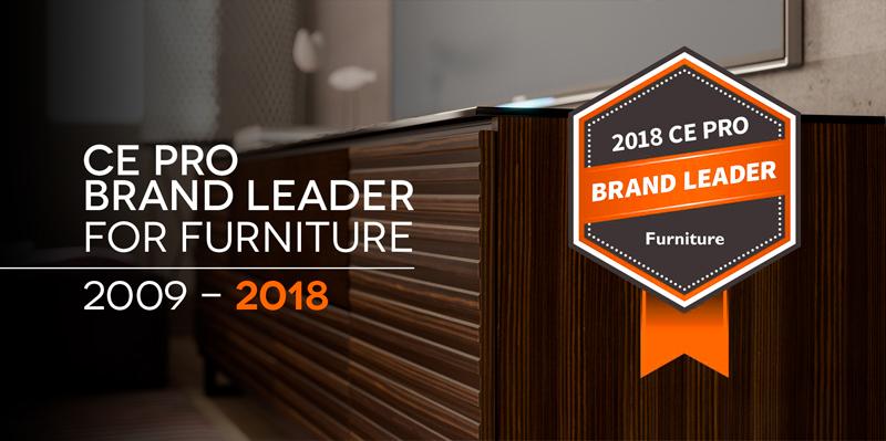 CE Pro Brand Leader For AV Furniture