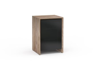 Barcelona 317, Single-Width Audio Cabinet, Natural Cherry