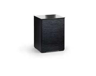 Chicago 317, Single-Width Audio Cabinet, Textured Black Oak
