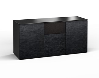 Chicago 336, Triple-Width AV Cabinet, Textured Black Oak