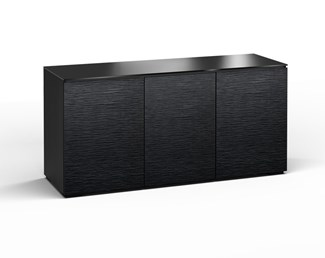 Chicago 337, Triple-Width AV Cabinet, Textured Black Oak