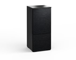 Chicago 217, Single-Width Audio Cabinet, Textured Black Oak