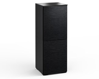 Chicago 617, Single-Width Audio Cabinet, Textured Black Oak