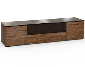 Denver 245, Quad-Width AV Cabinet, Textured Medium Walnut