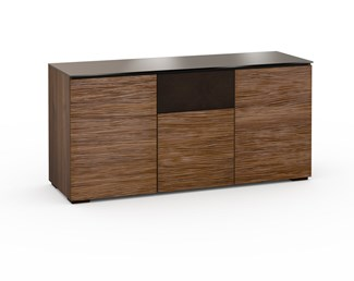 Denver 336, Triple-Width AV Cabinet, Textured Medium Walnut