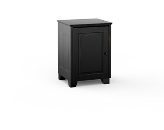 Hampton 317, Single-Width Audio Cabinet, Distress Black