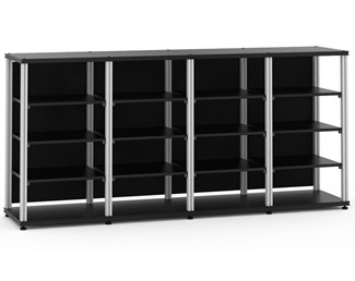 Synergy 40 Quad-Width Core Module, Black with Aluminum Posts