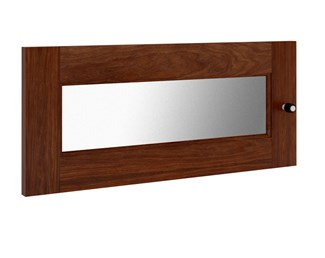 Synergy S10 Door, Walnut with Frosted Glass Insert