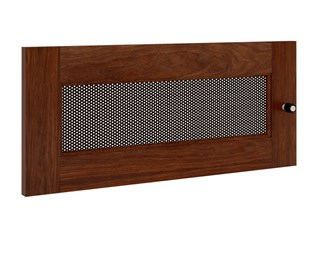 Synergy S10 Door, Walnut with Perforated Steel Insert