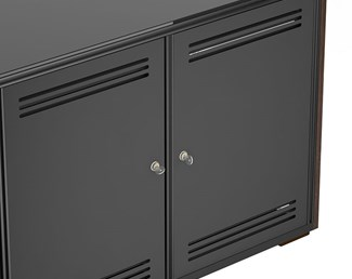 Cabinet Locking Rear Panels