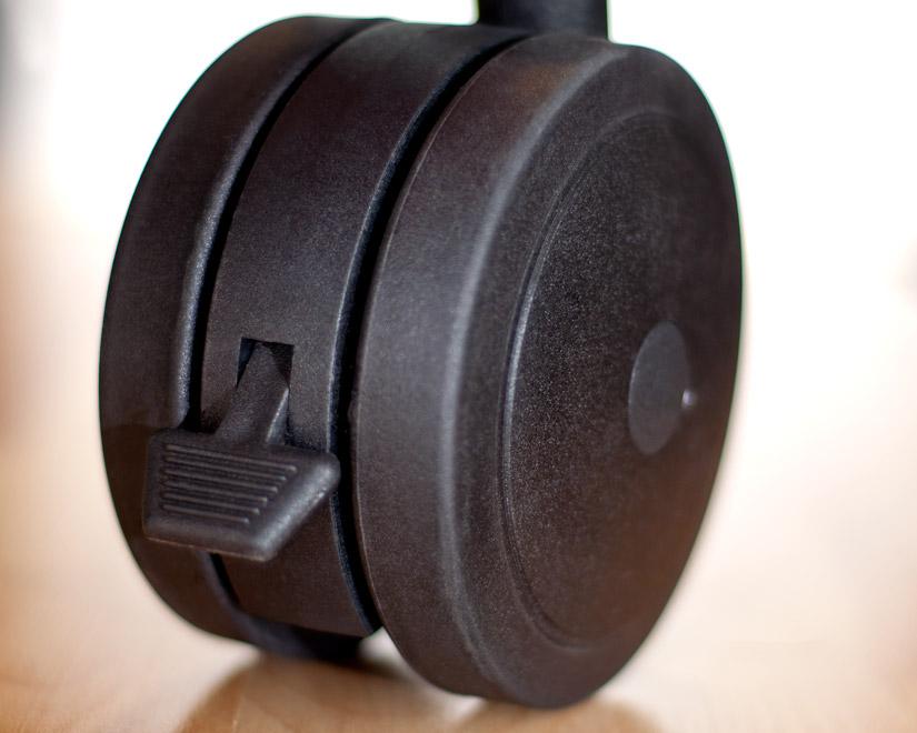 archetype dual wheel casters set of 4 black archetype furniture